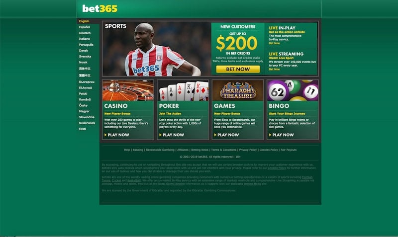 Bet365 the US Review
