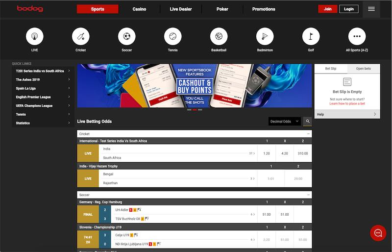 Bodog the US Sports Betting