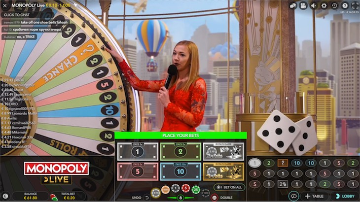 How to play Monopoly Live from Evolution Gaming
