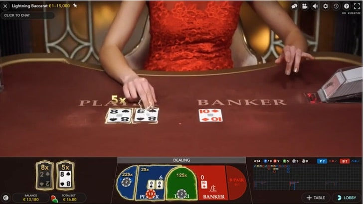 how to play lightning baccarat step 3