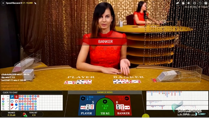 how to play speed baccarat step 2